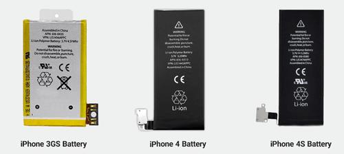 مقایسه باتری آیفون 4 و باتری آیفون 4S