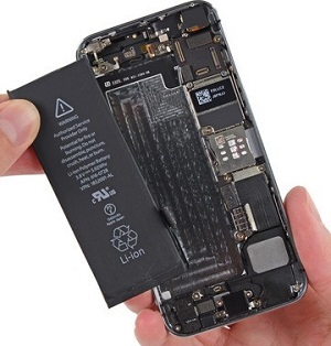 تعویض باتری آیفون 5
